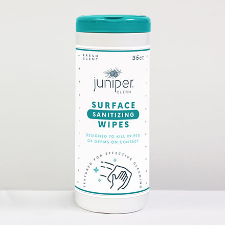 Juniper Clean Surface Sanitizing Wipes