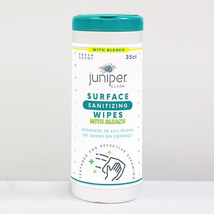 Juniper Clean Surface Sanitizing Wipes With Bleach